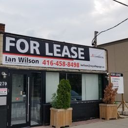 Real Estate for lease Signs
