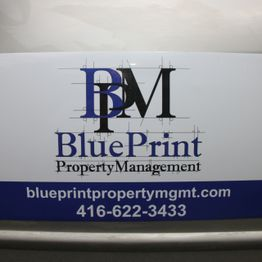 Blue Print Magnetic Signs