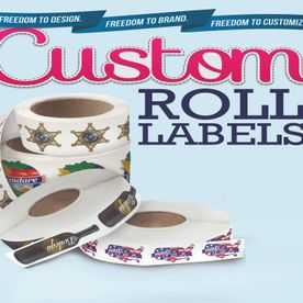 Custom roll labels decals